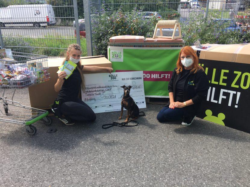 Spendenübergabe von Kölle Zoo